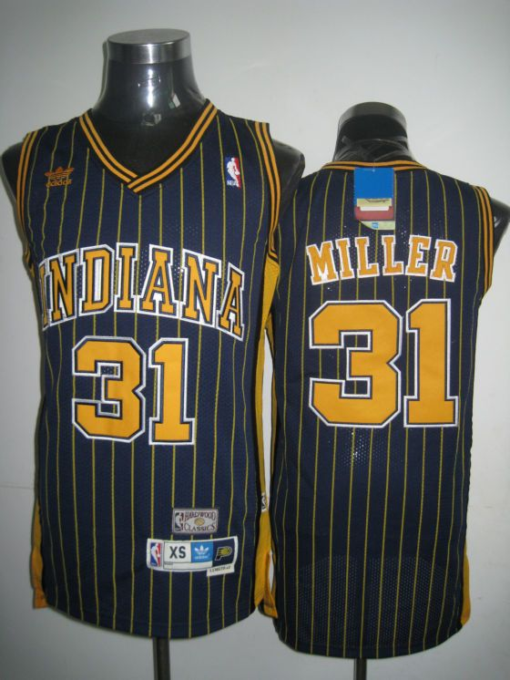 3e6669c3a91 ... canada mitchell and ness pacers 31 reggie miller navy blue embroidered throwback  nba jersey only 20.50