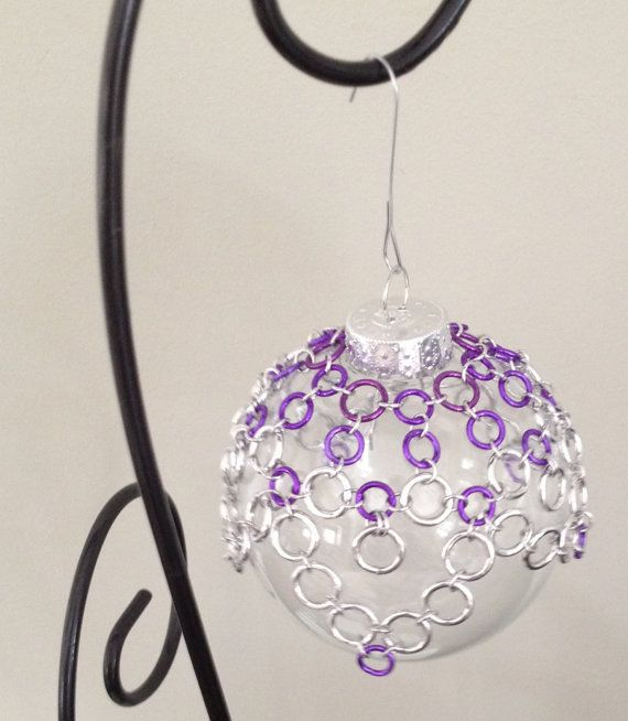 Chain Maille Wrapped Christmas Ornament by lovestruckjewelry, $20.00