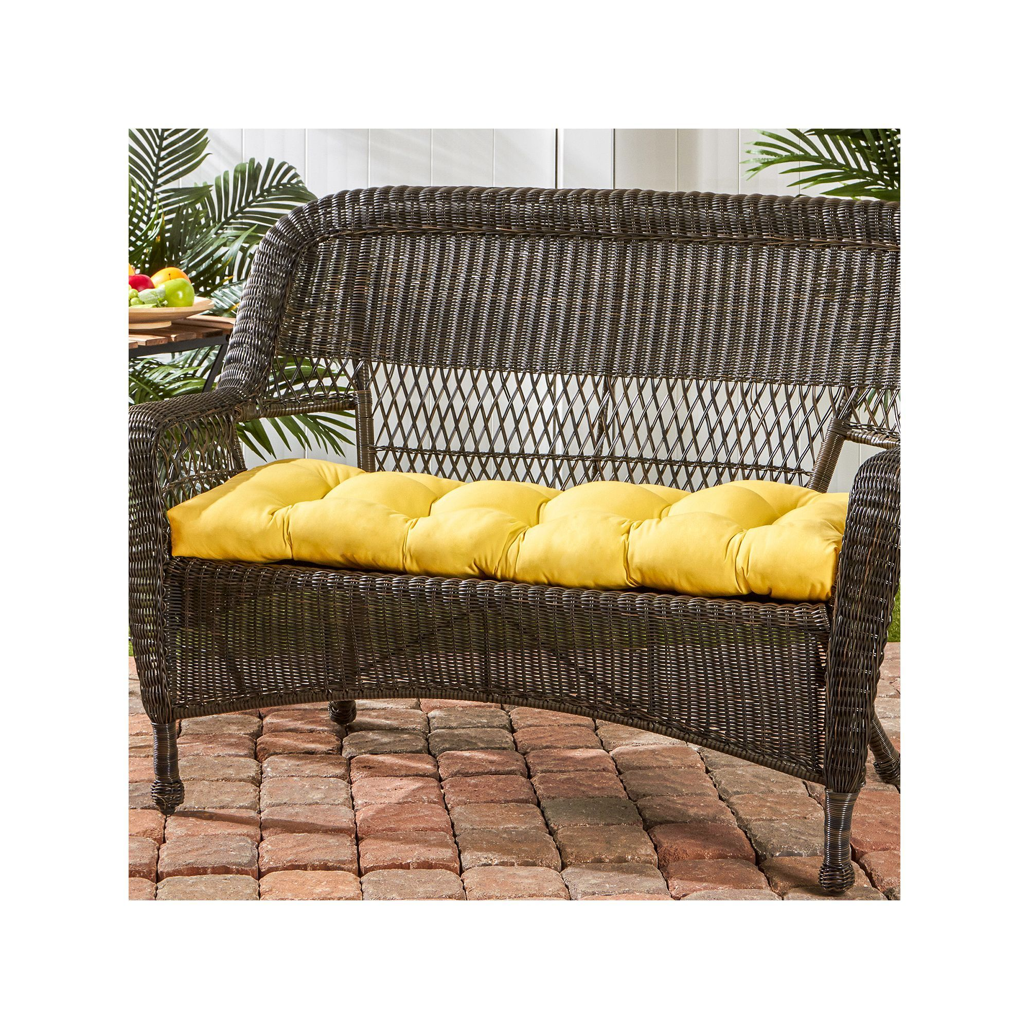 Greendale Home Fashions Outdoor Porch Swing Or Bench Cushion