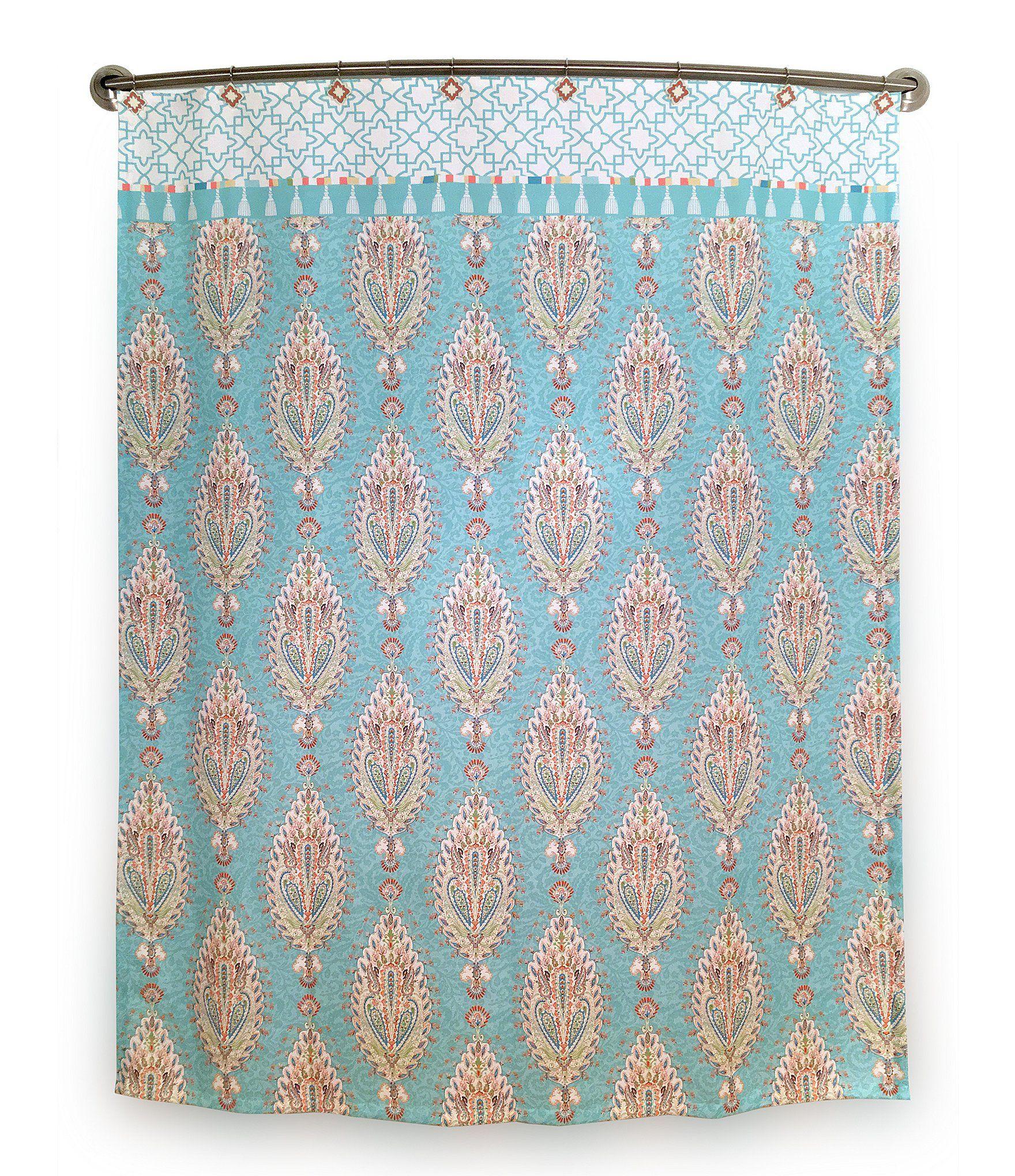 Kaiya Trellis Shower Curtain Long Shower Curtains Extra Long