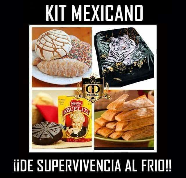 Kit Mexicano De Supervivencia Al Frio Memes De Frio Mamas Mexicanas Memes En Espanol
