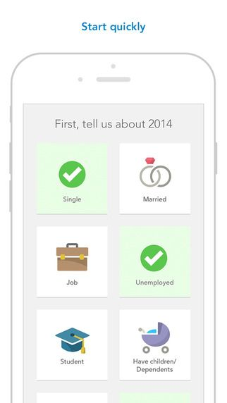 Turbotax mobile app App, Tax preparation, Mobile app