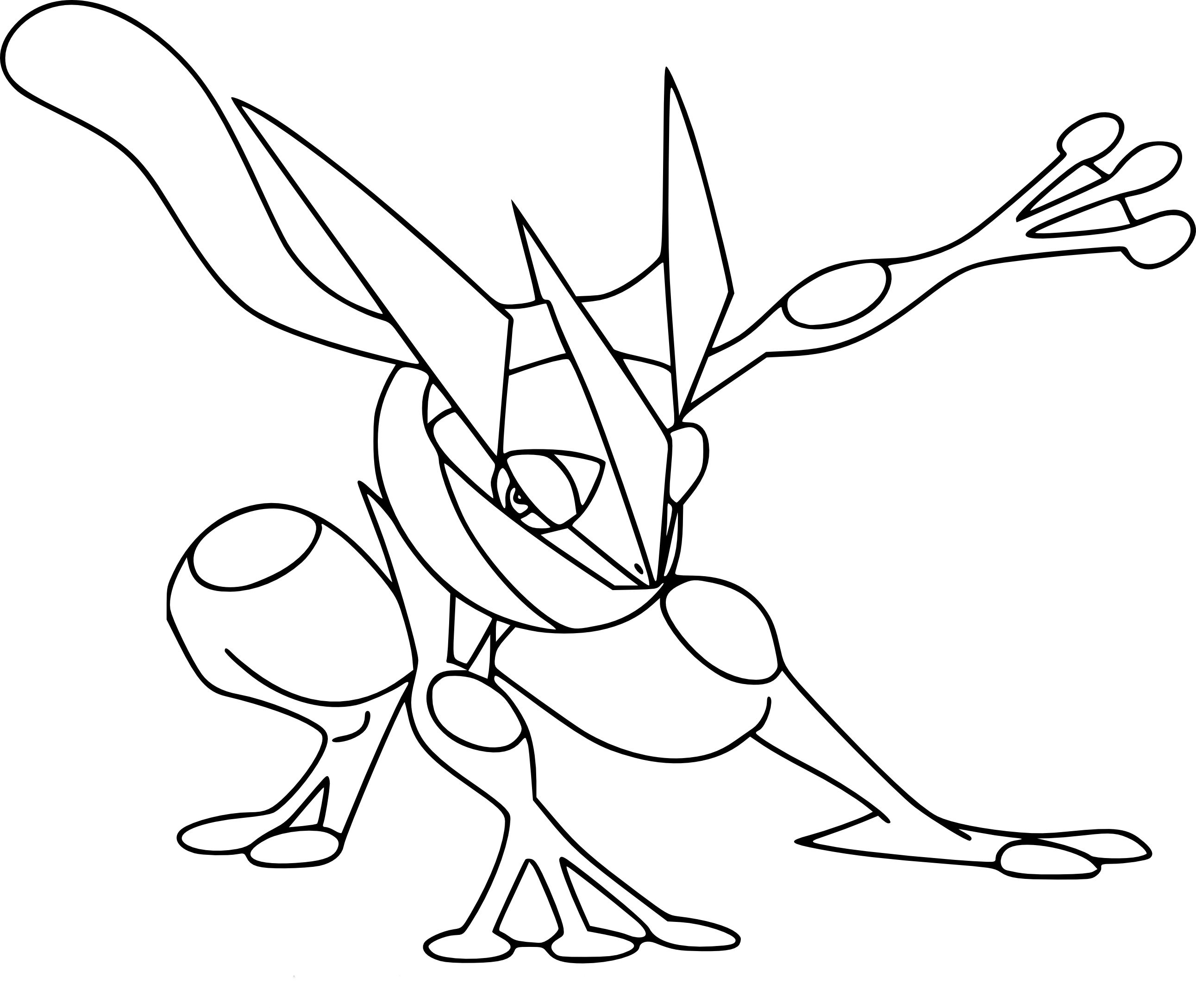 Greninja Coloring Page Coloring Pages Coloring Page Of The Pokemon