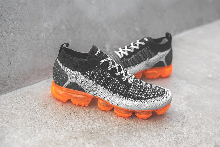 Nike Air Vapormax 2 FK noire grise et orange (imprimé animal