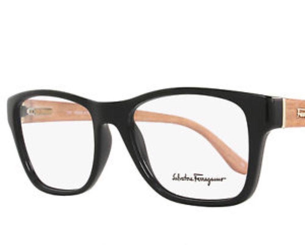 SALVATORE FERRAGAMO Frames Black Burnt Plastic Unisex Eyeglasses ...