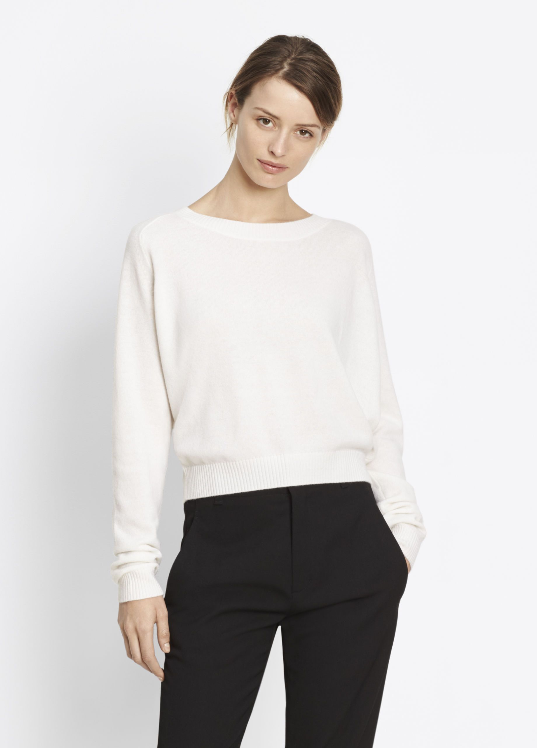 Cashmere Stretch Crew for Women | Vince