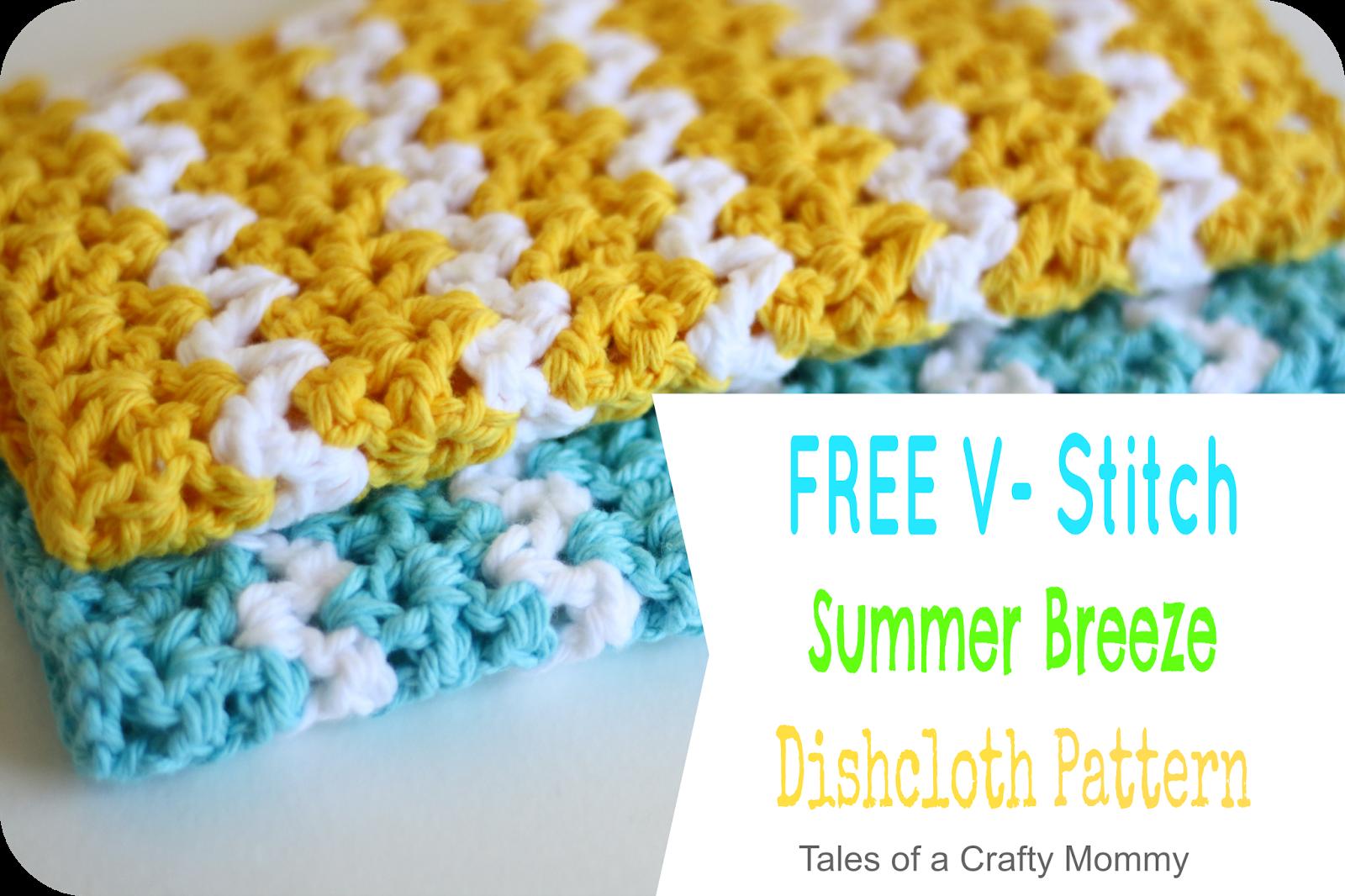 Free V-Stitch Dishcloth Pattern - Patron gratis (Tales of a Crafty ...
