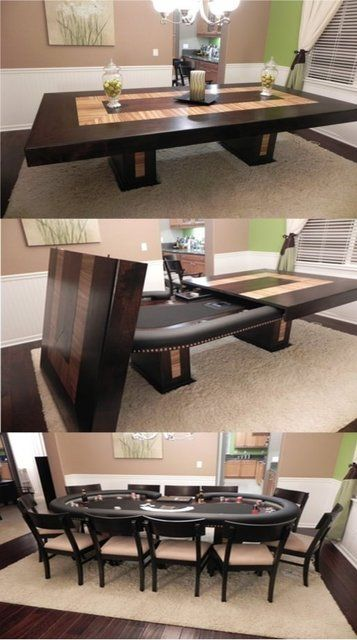 Dining Room Poker Table equals awesomeness & Dining Room Poker Table | Home is where your heart is | Pool table ...