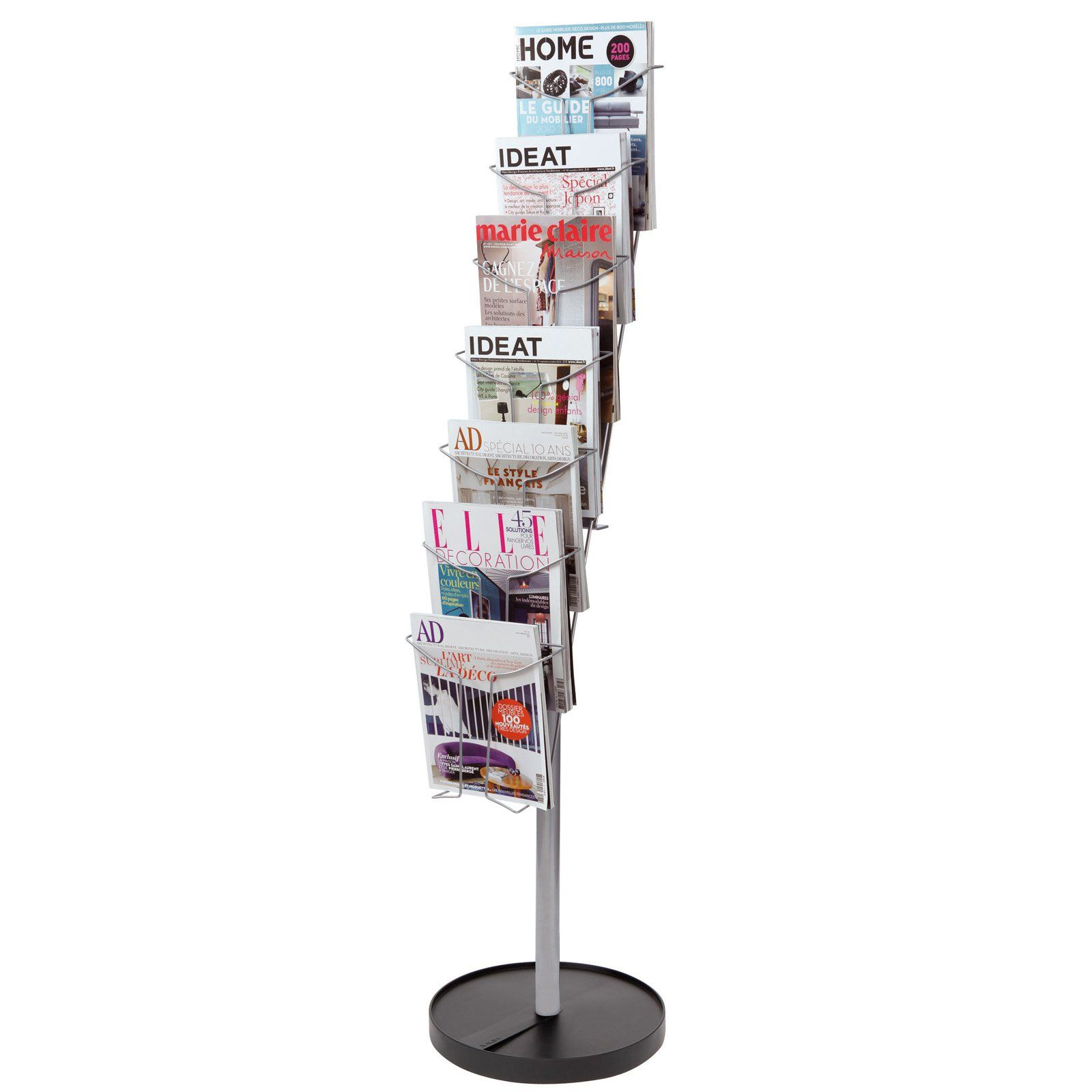 Alba 7 Compartment Wire Floor Literature Display Stand Display Stand Flooring Display