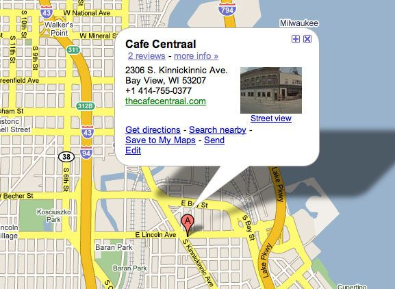 Cafe Central (Downtown Milwaukee)  American Food