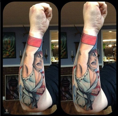 Sick Video Game Tattoos Fighter Tattoo Video Game Tattoos