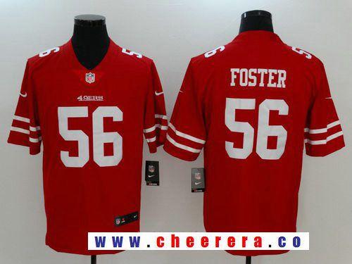 Men s San Francisco 49ers  56 Reuben Foster Red 2017 Vapor Untouchable  Stitched NFL Nike Limited 507714b0e