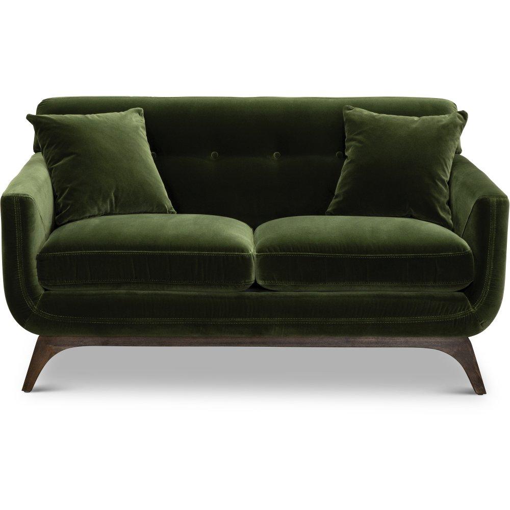Mid Century Modern Olive Green Loveseat Falkirk In 2020 Love Seat Mid Century Modern Loveseat Mid Century Loveseat