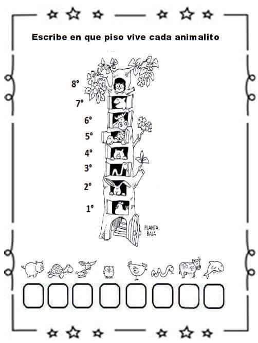 Resultado de imagen para fichas de numeros ordinales para primer ...