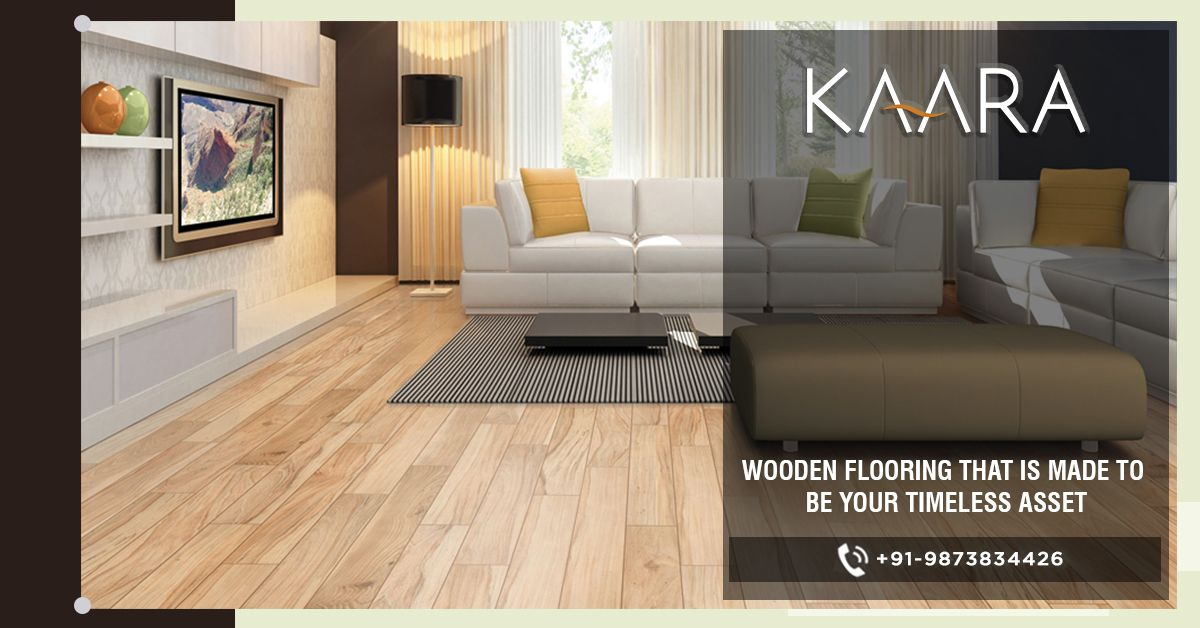 Get KAARA's Laminate Flooring and have the appeal and trust of wooden flooring without bothering about ill-effects of spilling water over your floor. To buy, call us at +91-9873834426 OR mail us your details at contact@kaaradecor.com #LaminateFlooring #WoodenFlooring #LaminateWoodenFlooring #Flooring #EngineeredWood #SolidWood #ChevronWood #LaminateWood #kaara #kaaradecor