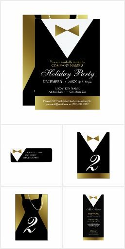 holiday christmas new years party invitations