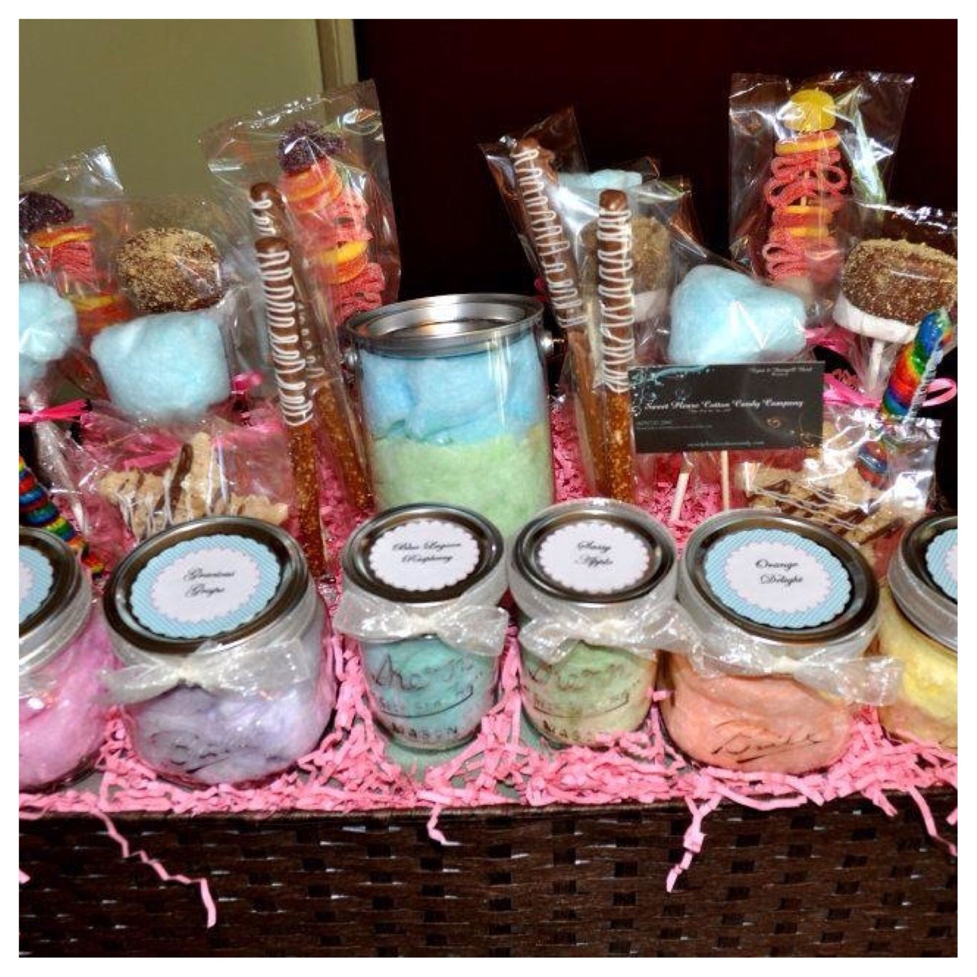 Cotton Candy Gift Basket Www Sweetpleasecottoncandy Com Candy Gift Baskets Candy Gifts Candy