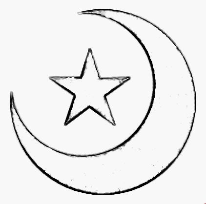 Stars And Moon Stars Crescents Star Template Search Jersey Templates