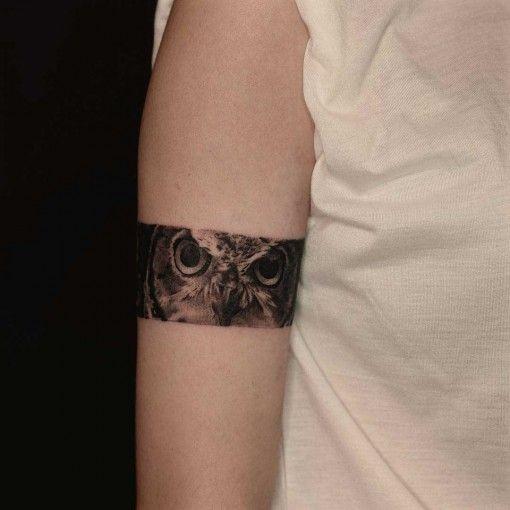 via owl eyes tattoo armband best tattoo ideas gallery tattoo pinterest m wen und ideen. Black Bedroom Furniture Sets. Home Design Ideas