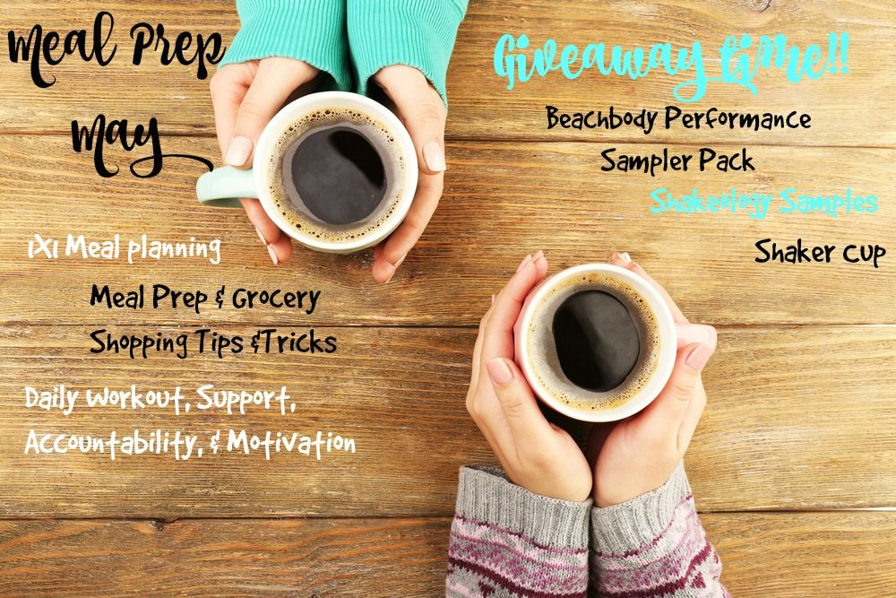 GIVEAWAY!! I have decided to giveaway 3 bonus prizes! For the next 3 people that contact me to save their spot in my Meal Prep May Accountability Group, by 8pm TONIGHT! I have a Beachbody Performance Sampler Pack, Shakeology Samples, and a Shakeology shaker cup! Who's ready to commit to a healthier may?! #cleaneating #groceryshopping #performanceline #shakercup #mealplanning #mealprep  #support #accountability #motivation