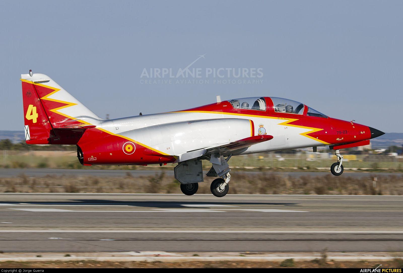 patrulla águila | Spain - Air Force : Patrulla Aguila E.25-23 aircraft at Murcia - San ...