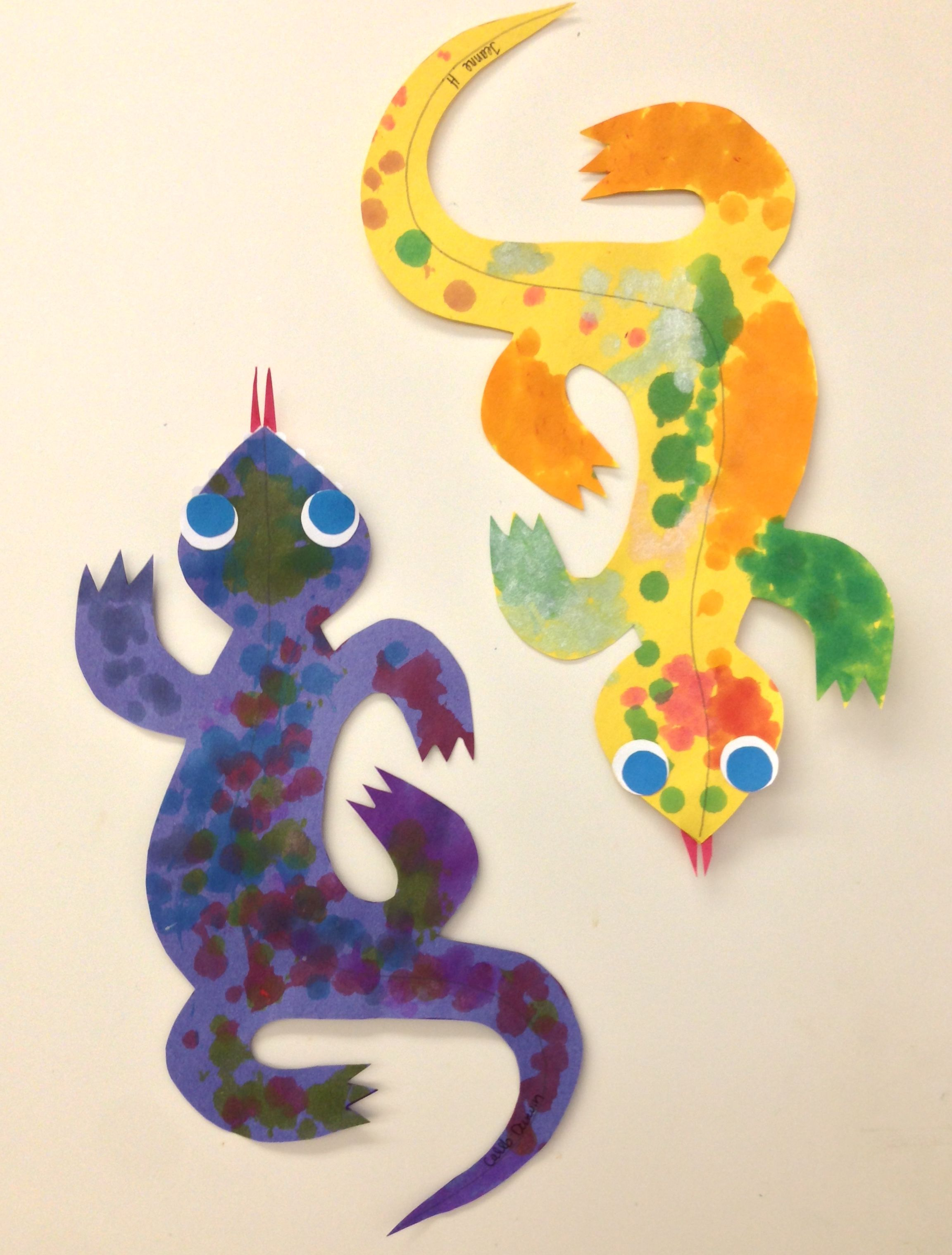 Letter Of The Week L Lizard Amp Amp Dot To Dot Paint