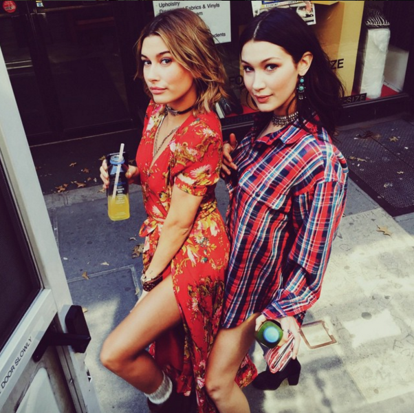 Not Your Boyfriend's Plaid NOW: Bella Hadid, face of Calvin Klein and Givenchy and star of Vogue Japan, Harper's Bazaar Australia and Glamour's latest issues, took a stroll alongside pal Hailey Baldwin in an oversized flannel. The in-demand model has been known to sling her button-downs around her hips in true 90s fashion. This being far from our only tartan spotting of late, it's safe to say grunge is in.