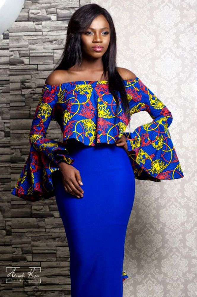 Image result for off shoulder tops ankara styles for men and women