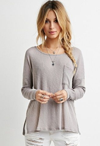 Textured Ribbed Knit Top Forever 21 2000161892 Fashion Shit