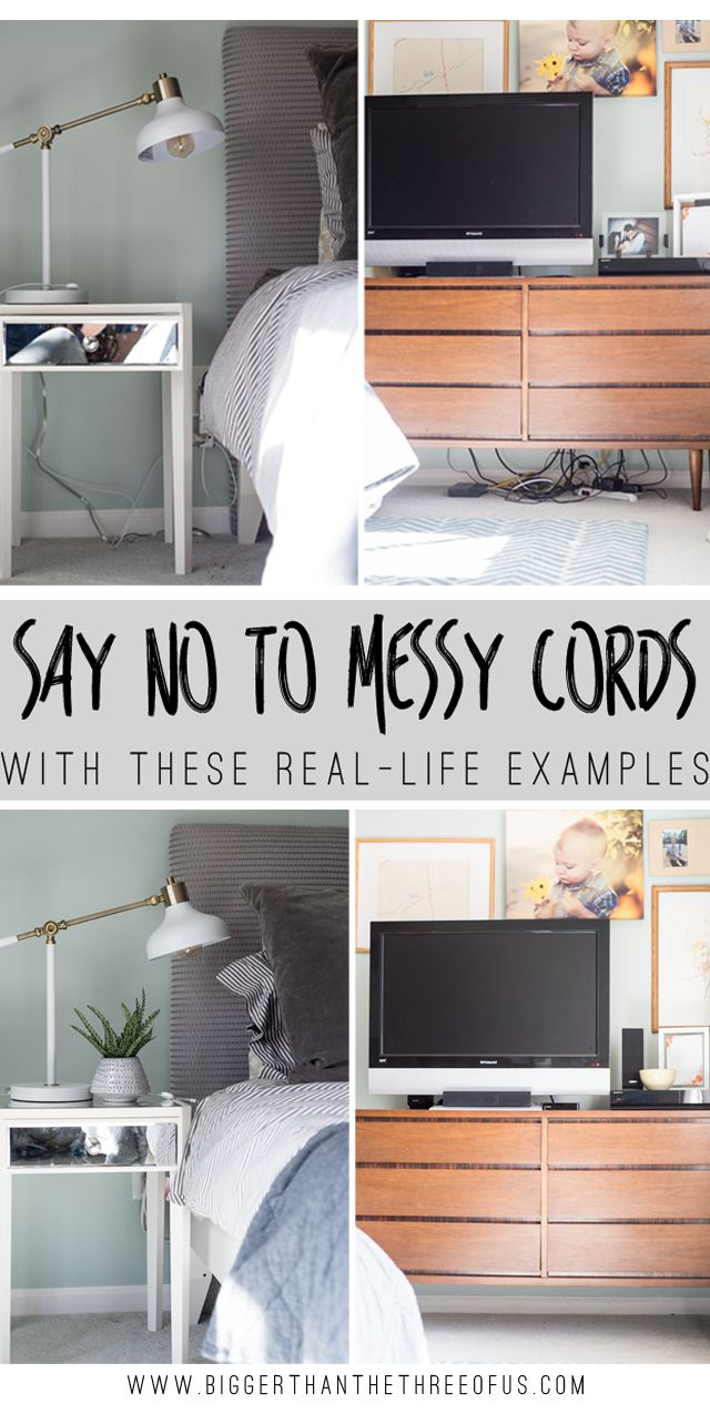 Cord Control and Cord Management for Nightstands, Media Cabinets and ...