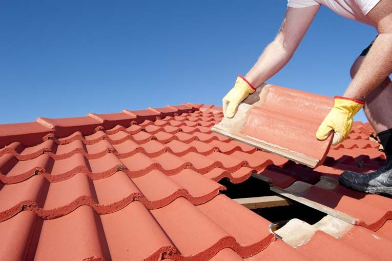 How To Repair A Tile Or Masonry Roof Hometips Roof Repair Roof Restoration Roof Tiles