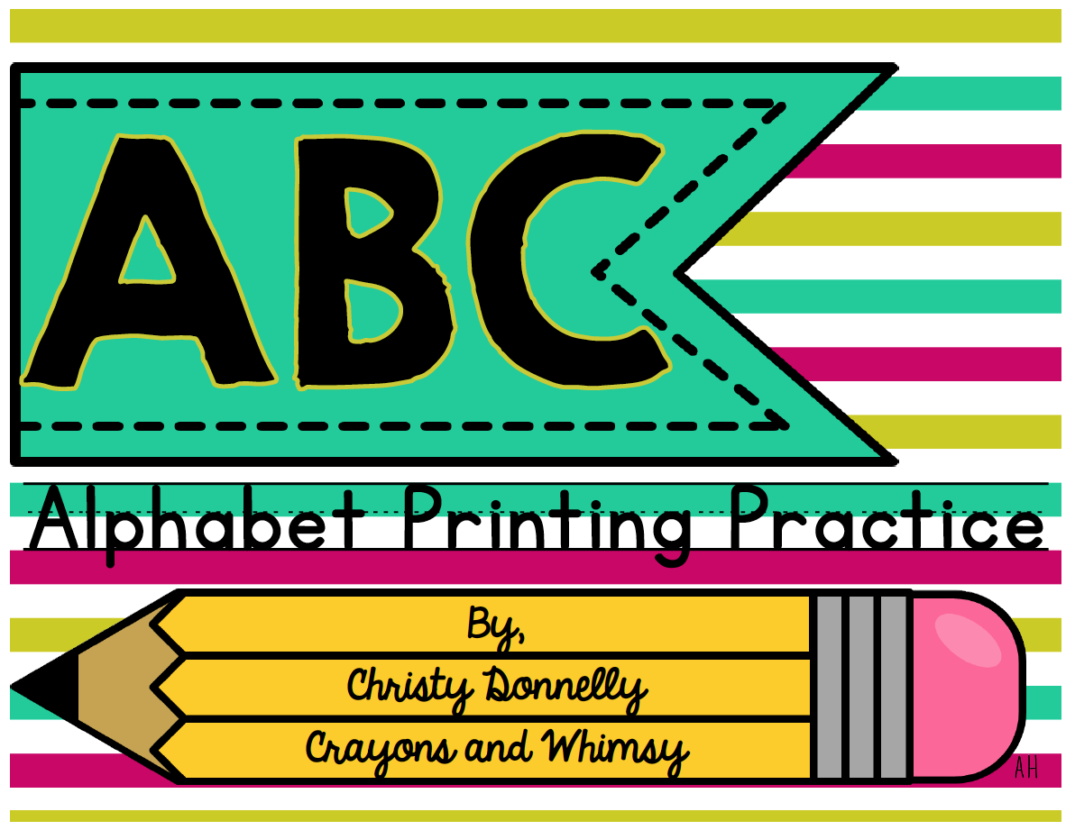 Alphabet Printing Practice Crayons And Whimsy