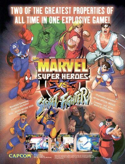 Marvel Super Heroes Vs Street Fighter Arcade Poster Street Fighter Arcade Games Marvel Vs Capcom