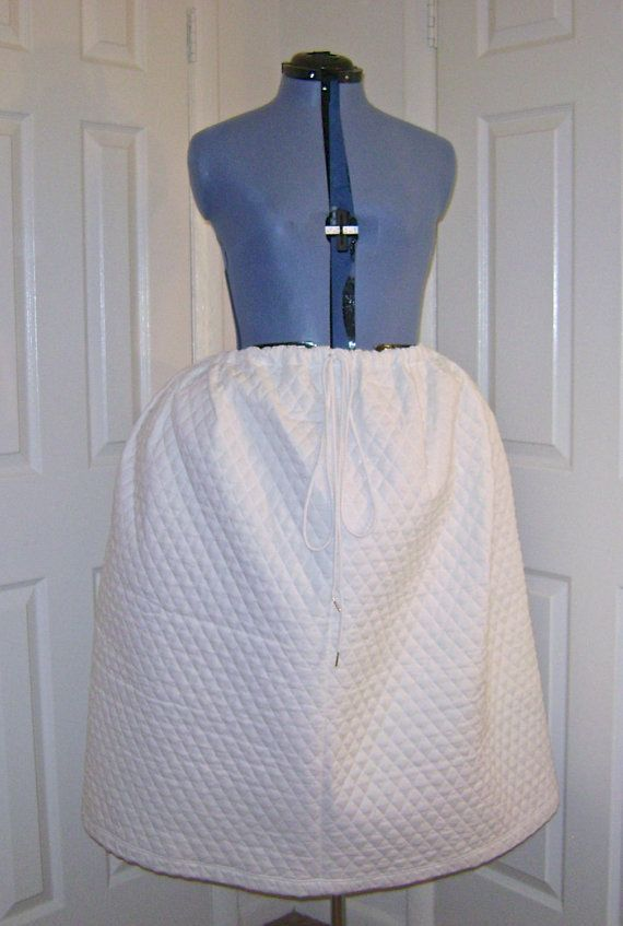 Colonial Georgian Quilted Petticoat Upon by historicaldesigns