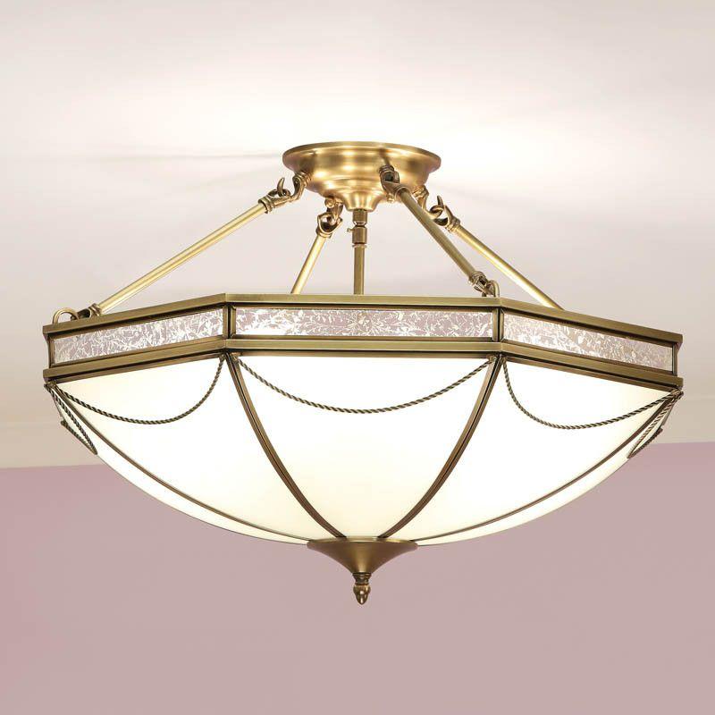 Russell antique brass finish 3 light semi flush ceiling light sn01p43 semi flush lighting semi flush ceiling lights and flush ceiling lights
