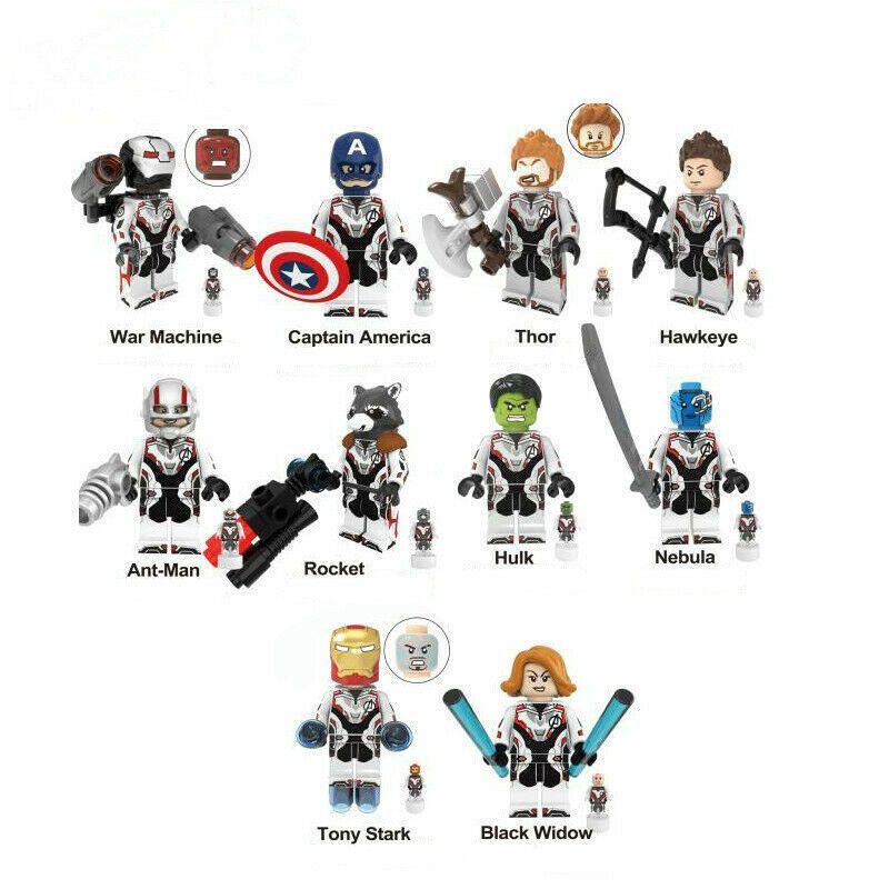 Thor Iron Man War Machine Figure Avangers 4 End Game Mini doll figure building