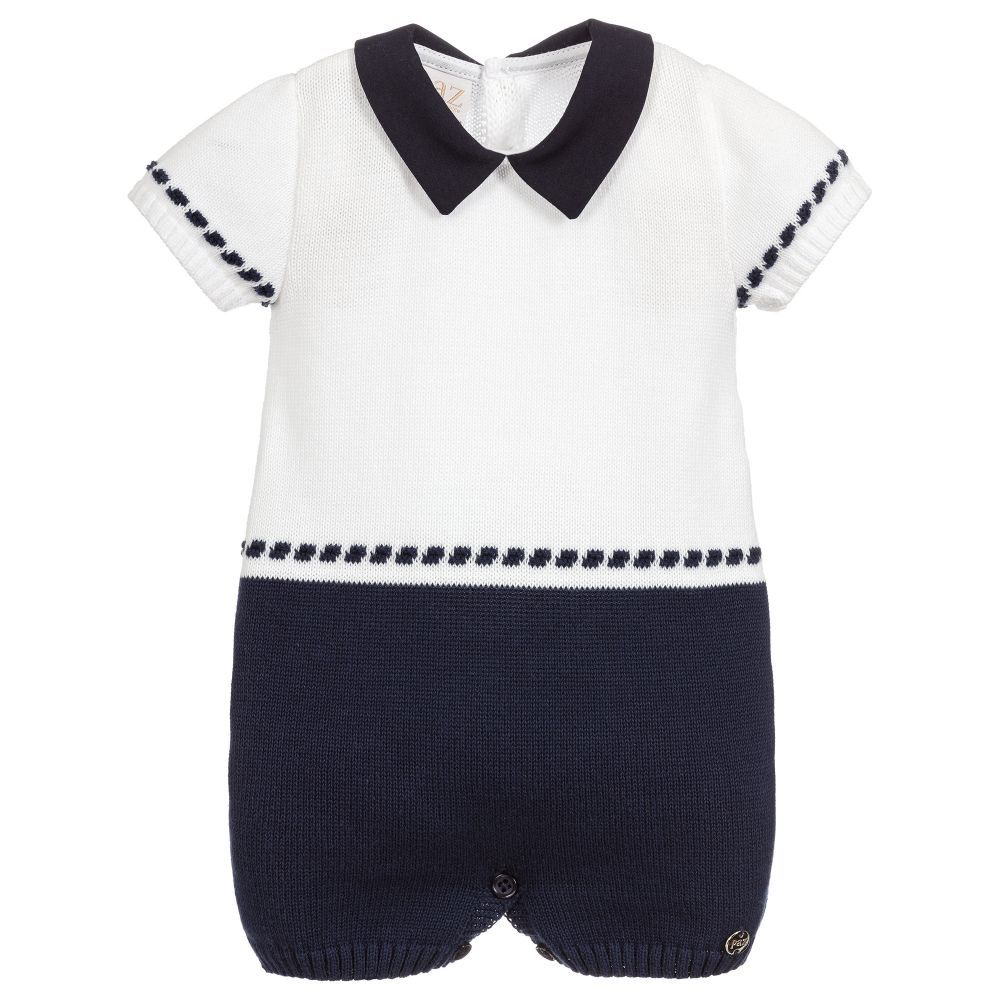 98c27f105 Smart navy blue and white shortie for baby boys by Paz Rodriguez ...