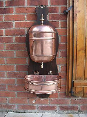 Rare Antique French Wall Fountain Lavabo Copper Fountain