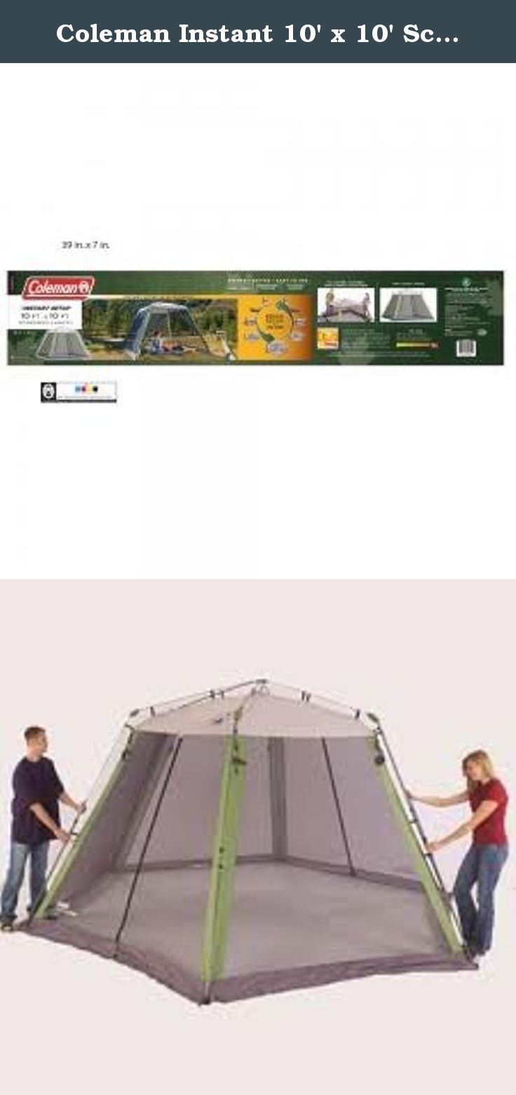 Coleman Instant 10 X 10 Screen House 10 Ft X 10 Ft Pop Up Screen Tent With Uv Protection Screen Tent Screen House Tent