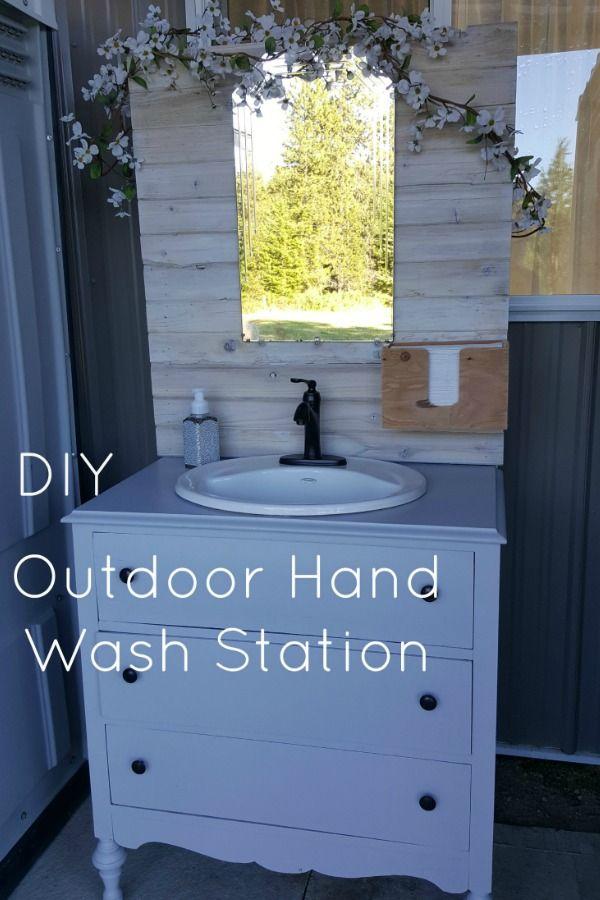 Diy Outdoor Hand Wash Station Hand Washing Station Outdoor Bathrooms Diy Outdoor