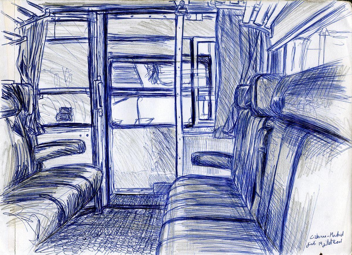 Comment Dessiner L 39 Interieur D Une Maison En Perspective Of Simulation D39un Circuit Purementanalogique Int Rieur Un Wagon De Train Lisbonne Madrid Au Portugal For Dessin