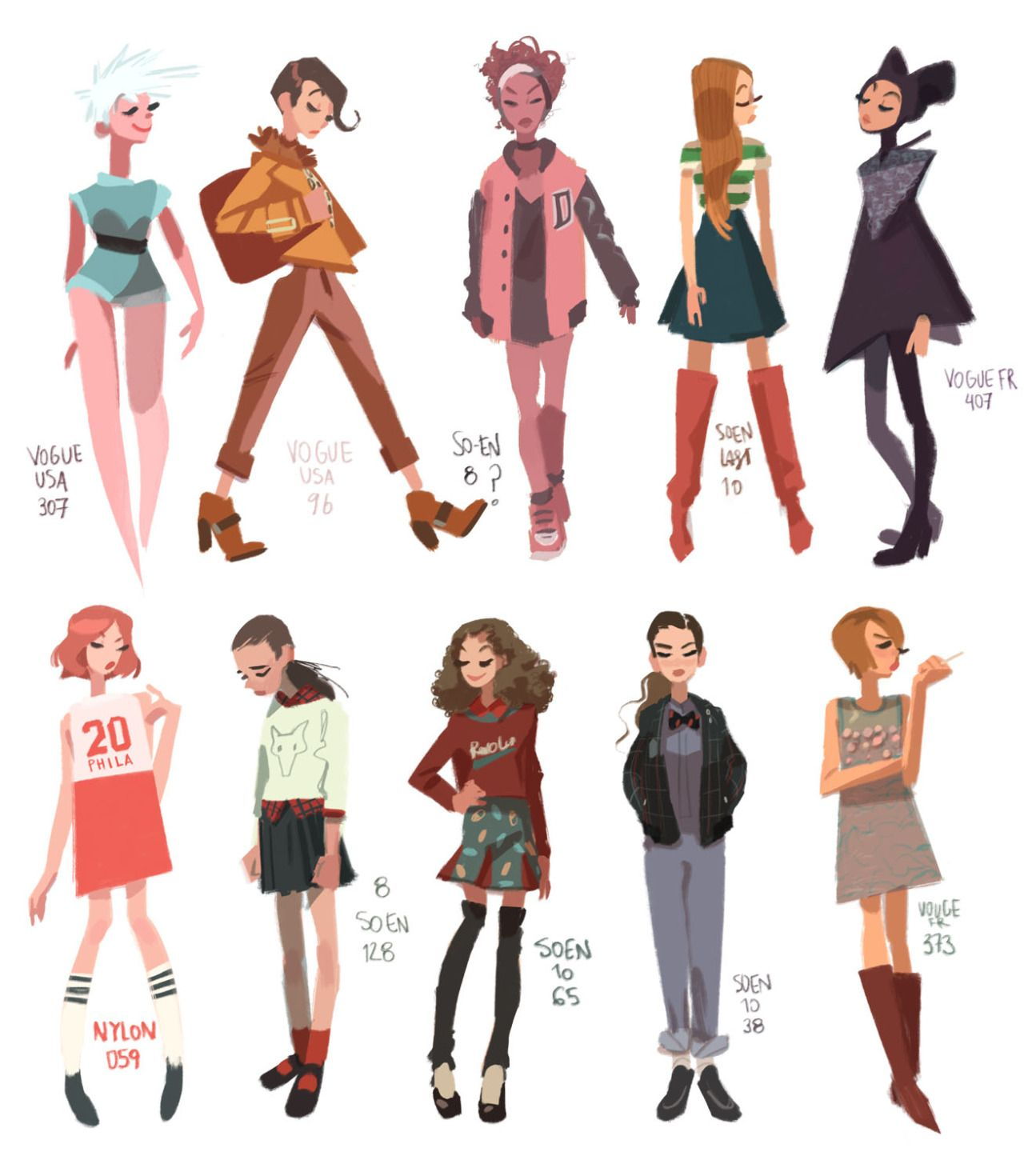 Character Design Magazine : Character design from magazine reference anna cattish