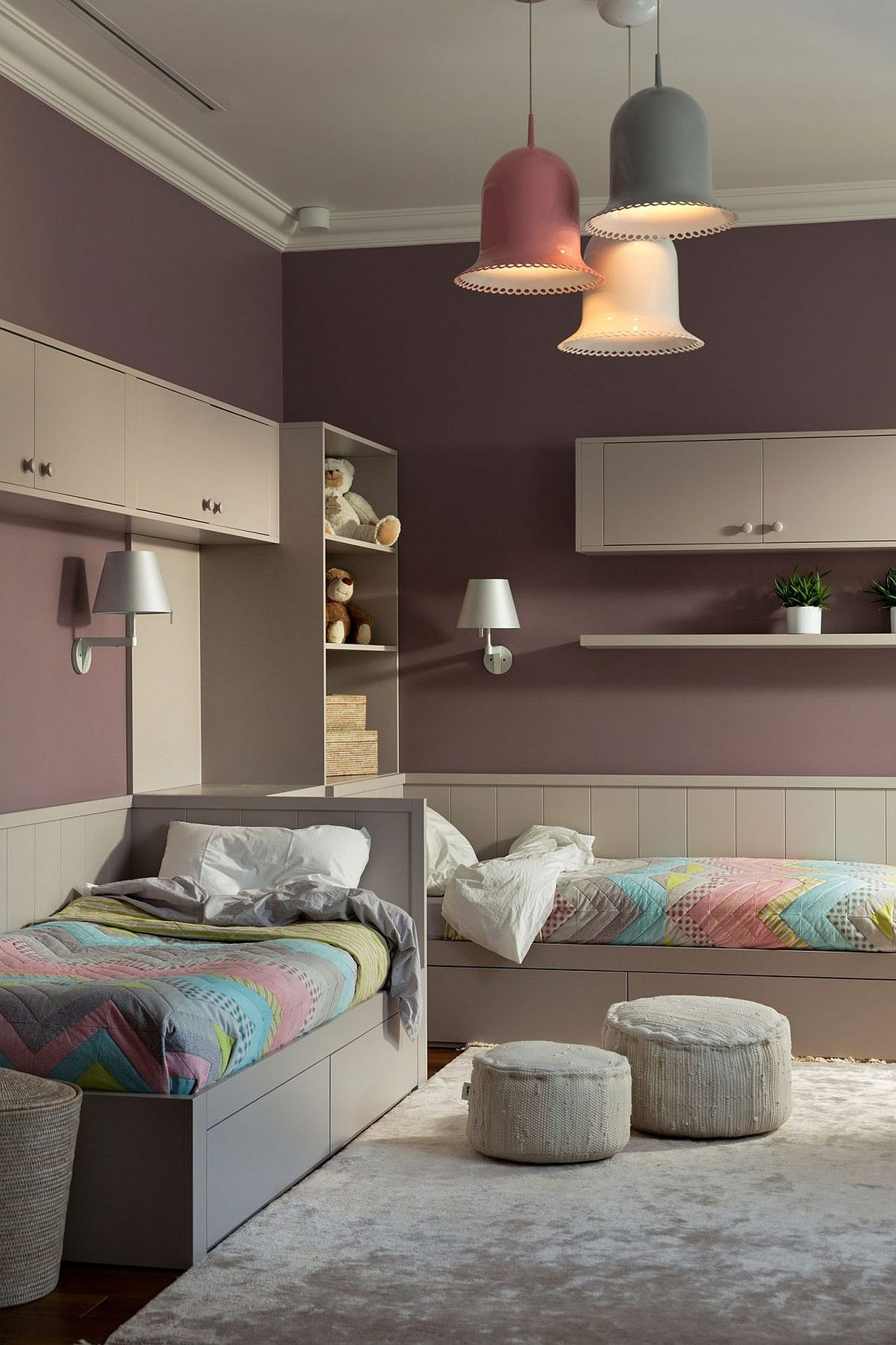 Twin Boys Bedroom Ideas: Chic And Feminine: Luxurious Two Level Apartment In Kiev