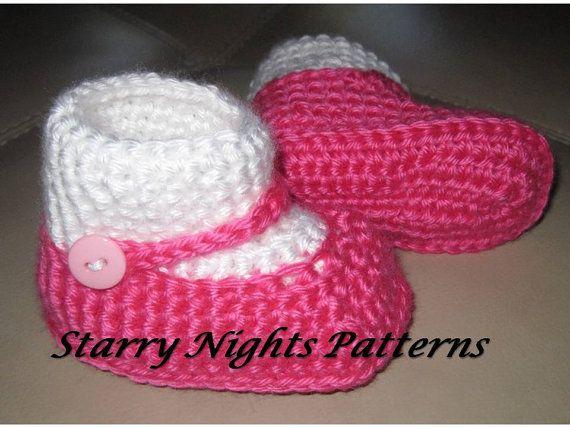 Crochet Baby Shoes Mary Jane Pattern : Crochet baby booties mary jane Socks Slipper shoes ...