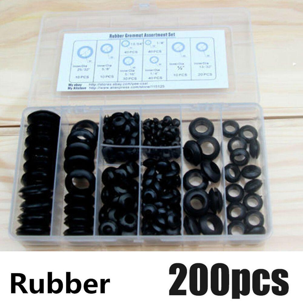 Sponsored eBay) 200Pcs Black Car Rubber Grommet ortment ... on