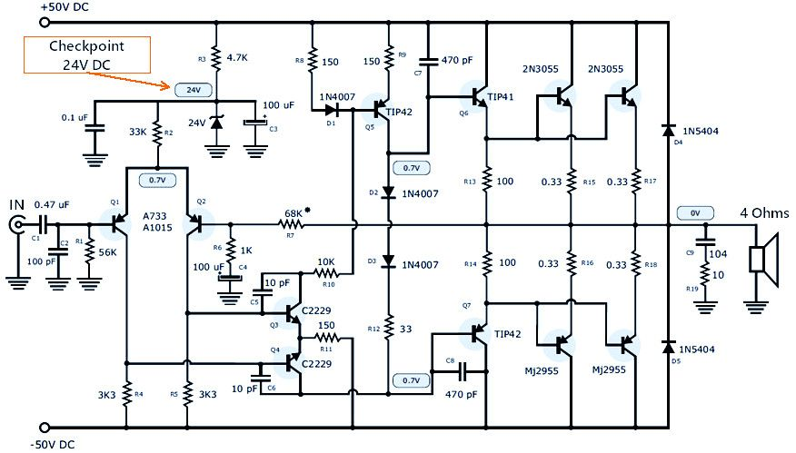 120w power amplifier power supply schematic design electronic120w power amplifier power supply schematic design