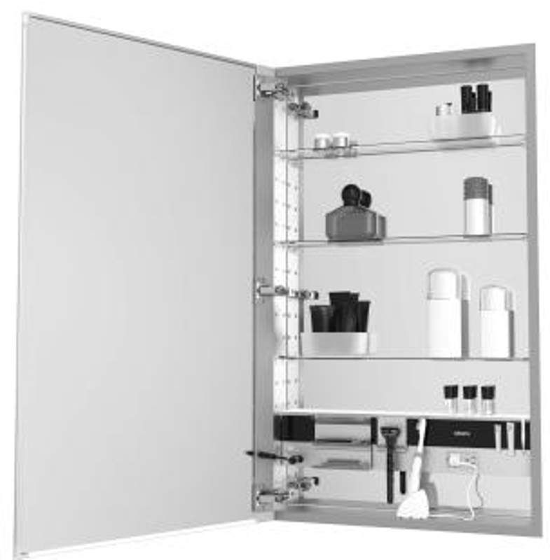 """Buy the Robern MC2430D820LE2 Black Direct. Shop for the Robern MC2430D820LE2 Black M Series 24"""" x 30"""" x 8"""" Single Door Medicine Cabinet with Left Hinge, Integrated Outlets and Interior Illumination and save."""