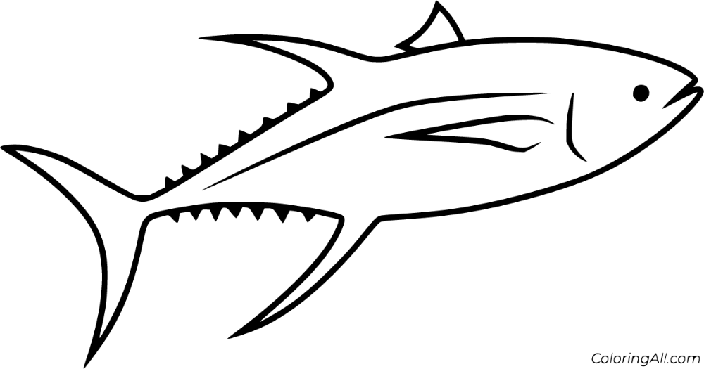 20 Free Printable Tuna Coloring Pages In Vector Format Easy To Print From Any Device And Automatically Fit Any Paper S Fish Coloring Page Coloring Pages Color