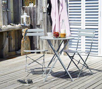 Caféset HAFJELL Ø60cm stål grå | JYSK