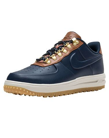 NIKE Lunar Force 1 Duckboot Low Men s low top sneaker boot Lace closure  Weatherproof materials Metal... True to size. Synthetic Materials. Navy  AA1125-400. 7a35ea517
